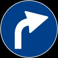 Mandatory driving direction
