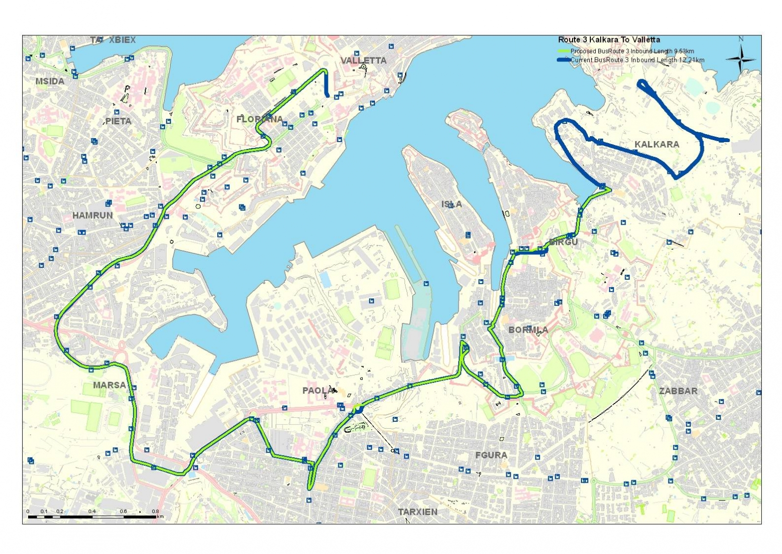 Land-current-network-routes-and-schedules-Cottonera-birgu-bormla-isla-kalkara-5